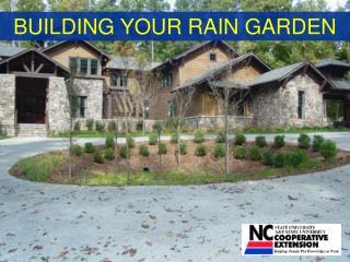 BUILDING YOUR RAIN GARDEN