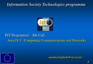 Information Society Technologies programme