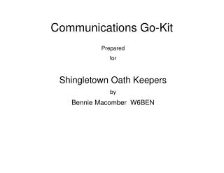 Communications Go-Kit