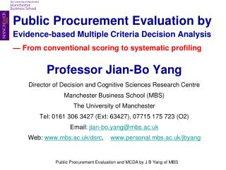Public Procurement Evaluation by Evidence-based Multiple Criteria Decision Analysis    From conventional scoring to syst