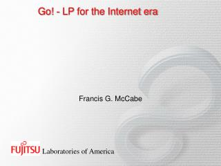 Go! - LP for the Internet era