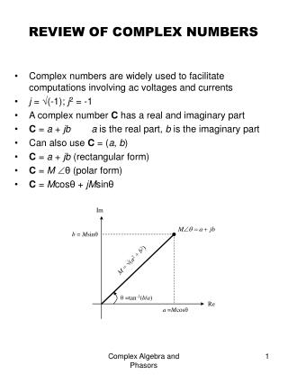 REVIEW OF COMPLEX NUMBERS