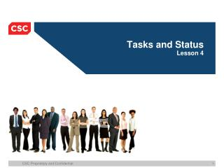 Tasks and Status Lesson 4
