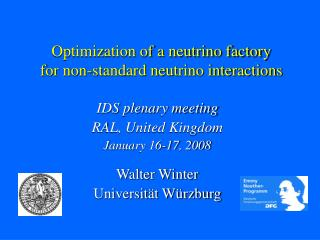 Optimization of a neutrino factory for non-standard neutrino interactions
