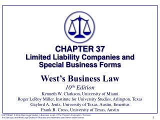 § 1: Limited Liability Companies