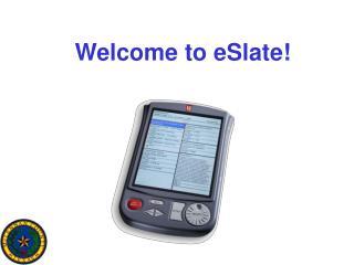Welcome to eSlate!