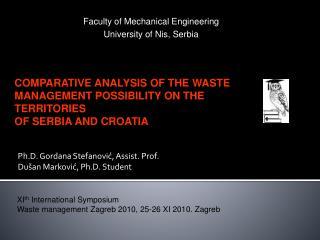 Ph.D. Gordana Stefanović, Assist. Prof. Dušan Marković, Ph.D. Student