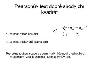 Pearsonův test dobré shody chí kvadrát