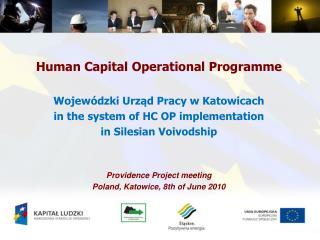 Human Capital Operational Programme Wojewódzki Urząd Pracy  w  Katowicach
