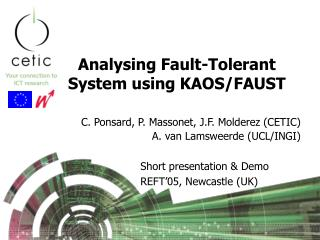 Analysing Fault-Tolerant System using KAOS/FAUST