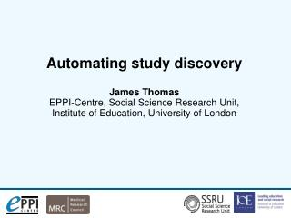Automating study discovery; how?