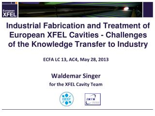 ECFA LC 13, AC4, May 28,  2013   Waldemar Singer f or the XFEL Cavity Team