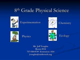 Mr. Jeff Vaughn Room #114  717-930-0739  Extension: 5114 jvaughn@raiderweb