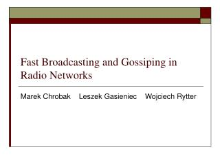 Fast Broadcasting and Gossiping in Radio Networks