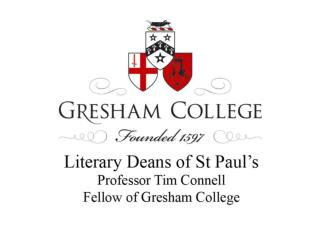 Literary Deans of St Paul's