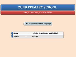 Tenses in English Language