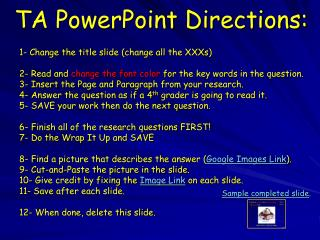 TA PowerPoint Directions: