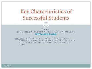 Key Characteristics of Successful Students