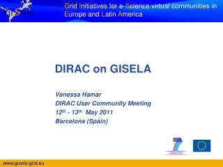 DIRAC on GISELA