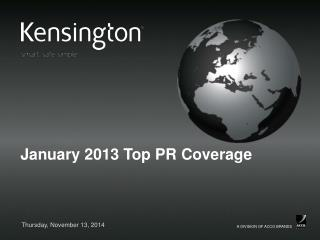 January 2013 Top PR Coverage