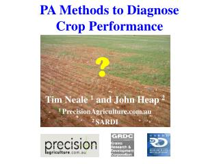 PA Methods to Diagnose Crop Performance