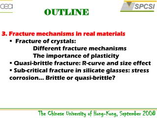 3. Fracture mechanisms in real materials  Fracture of crystals: Different fracture mechanisms