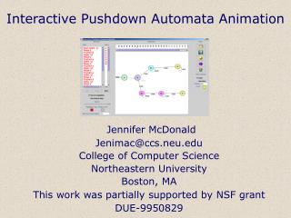 Interactive Pushdown Automata Animation