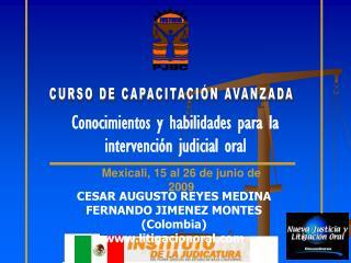 CURSO DE CAPACITACIÓN AVANZADA