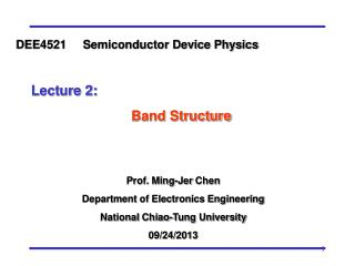 Prof. Ming- Jer  Chen Department of Electronics Engineering National  Chiao -Tung University