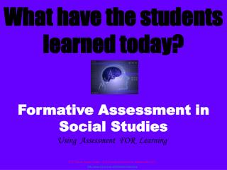 What have the students learned today