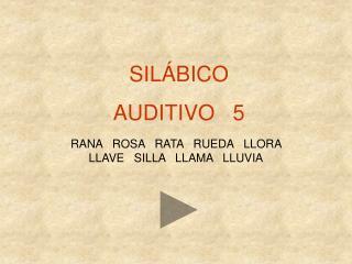 SIL�BICO AUDITIVO   5