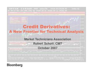 Credit Derivatives: A New Frontier for Technical Analysis