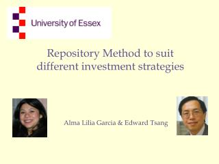 Repository Method to suit different investment strategies