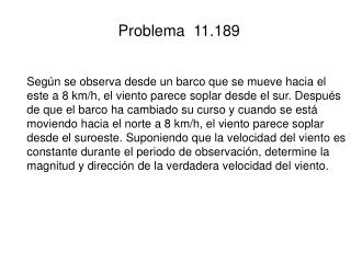 Problema  11.189
