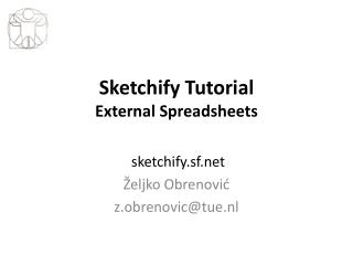 Sketchify Tutorial External Spreadsheets