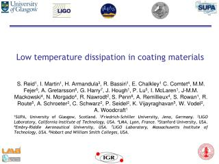 Low temperature dissipation in coating materials