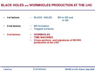 BLACK  HOLES.        BH in GR and                                                  in QG