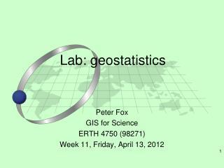 Lab: geostatistics