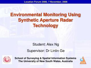 Environmental Monitoring Using Synthetic Aperture Radar Technology