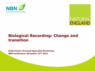 Biological Recording: Change and transition