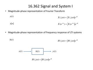 Magnitude-phase representation of Fourier Transform