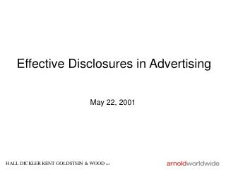 Effective Disclosures in Advertising
