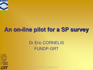 An on-line pilot for a SP survey