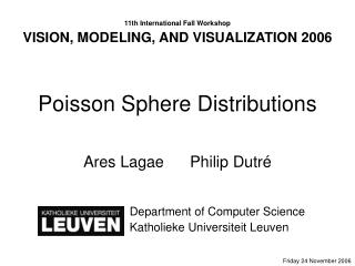 Poisson Sphere Distributions