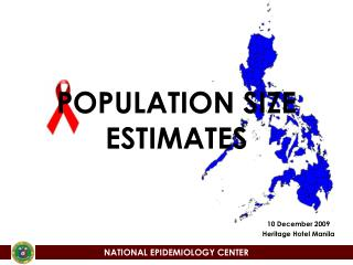 POPULATION SIZE ESTIMATES