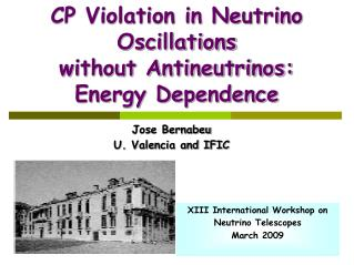 CP Violation in Neutrino Oscillations  without Antineutrinos: Energy Dependence