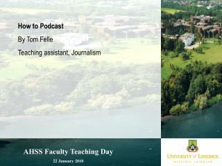 AHSS Faculty Teaching Day 22 January 2010