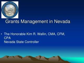 Grants Management in Nevada