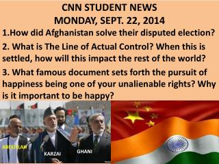 CNN STUDENT NEWS MONDAY, SEPT. 22, 2014