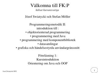 V�lkomna till FK:P